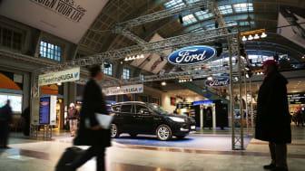 Nya Ford Kuga twittrar från centralstationen i Stockholm – nytt grepp från Ford vid lansering