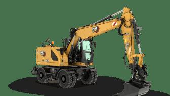 Cat M314 hjulgrävmaskin - frilagd utan skugga