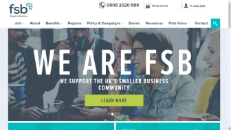A screen grab of the website of FSB