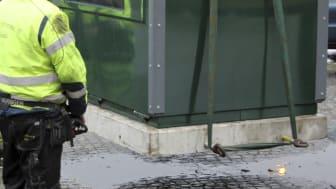 Återvinningsstation i Södertälje dras tillfälligt in