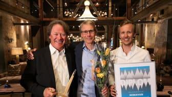 Till vänster Peter Östbergh, Fjällchef, mitten Thomas Ringbrant VD, till höger Pontus Lindh Marknadschef
