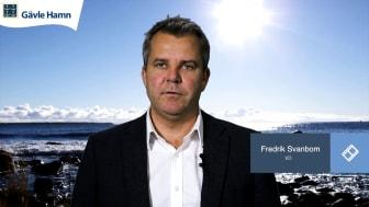 Fredrik Svanbom, VD Gävle Hamn AB