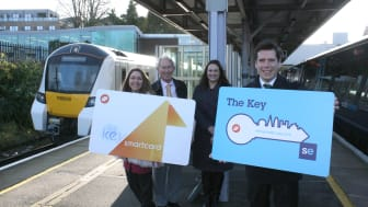 Thameslink's and Southeastern's Key Smartcards now work across one another's networks allowing passengers to travel further, across Kent and Sussex, Herts and Cambridgeshire (download high resolution pictures below)