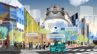 Fords CEO, Jim Hackett, præsenterede Fords vision om at udvikle intelligente byer til CES 2018.