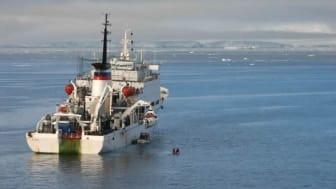 Forskningsfartyget Akademik Keldysh lämnar Archangelsk 26 september med expeditionen ombord.
