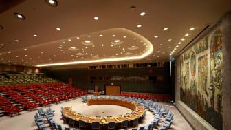 New exhibition in the National Museum – Architecture about about the world's most important room - The Security Council Chamber The UN Headquarters in New York, 2018 .Opens 15 June. Foto: Ivan Brodey
