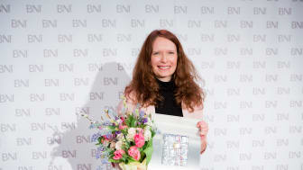 Jessica Stark, CEO och medgrundare av SUP46 är Årets Affärsnätverkare 2016. Foto: Björn Dahlin