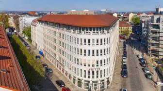 Büroimmobilie am Schießhaus 1-3 in Dresden (Quelle: TLG Immobilien AG/Aroundtown SA, Urheber: Reinhardt & Sommer)