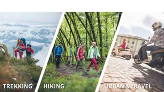 Mit der neuen Trekking-Linie spricht Maier Sports Outdoor-Fans an, die gerne auch abseits ausgetretener und befestigter Wege unterwegs sind.
