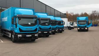 IVECO Eurocargo på väg till PostNord, som en del av en beställning på 16 nya lastbilar.