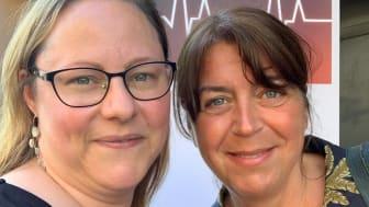 Anna Bergkvist, ordförande och Katarina Nydahl, verksamhetsledare