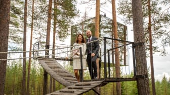 Utrikesminister Ann Linde och kommunalråd Claes Nordmark (Bodens kommun) Foto: Bodens kommun/KOMM