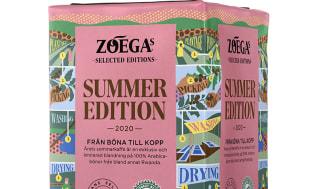 Zoégas sommarkaffe med toner av viol och smultron - spårbart från böna till kopp