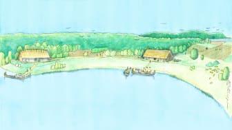 2. Reconstruction Vendel period manor (reconstruction by Jacques Vincent)