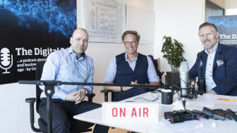The Digital Edge episode 3 med Lars Jacobsen, Computerworld (tv); Claus H Andersen, Head of Digital hos Salling Group (midt) og Jesper Schleimann, SAP (th).