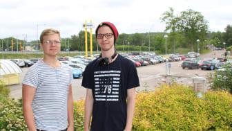 Eric och David har utvecklat en webbaserad samåkningstjänst för Hogias medarbetare på endast fyra månader.