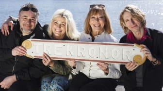 Fr. v. Jack Wreeswijk, Tina Ahlin, Lill Lindfors och Love Antell. Foto: Skärgårdsfoto.