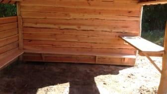 Grillhus med vask och köksbänk från Woodwork AB