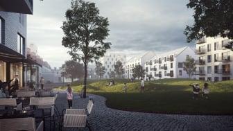 Visualisering - Östermalms Park, Kristianstad