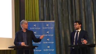 Ola Elvestuen (v) og Mats A. Kirkebirkeland (H)