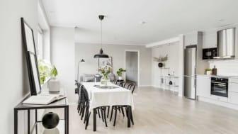 Lokaler blev fyra lägenheter med kanonläge i Skellefteå