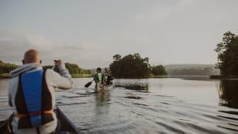 Paddling på Ivösjön, fotograf Mickael Tannus