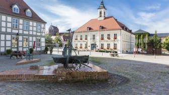 Angermünde ist eine Station auf den Radrouten zu den historischen Stadtkernen in Brandenburg. Foto: TMB-Fotoarchiv/Steffen Lehmann.