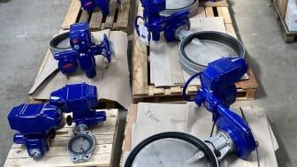 Drikkevandsgodkendte GDV-butterflyventiler klar til levering til endnu et vandværk