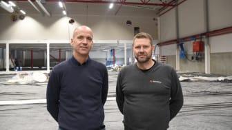Jan Karlsson, Orderdesk- och eftermarknadschef samt Fredrik Ellingsson, gruppchef för Teknisk support hos Rototilt.