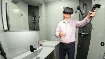 Kylpyhuoneen virtuaalimalli rikkoo jään suunnittelijoiden ja käyttäjien välillä