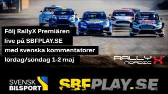 Medlemserbjudande – se RallyX Nordicpremiären live på SBFplay