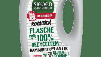 Flache aus 100 Prozent recyceltem Kunststoff