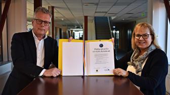 Lars Göran Andersson, vd, och Lena Carlberg, ordförande HSB Göteborg.
