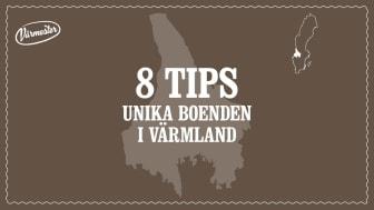 8 unika boenden i Värmland