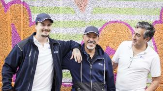 Mio, Wahed och Farzad är några av Hammarkullens trygghetsvärdar. (Foto: Svante Örnberg)