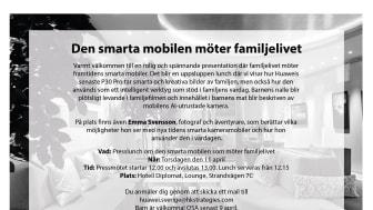Den smarta mobilen möter familjelivet