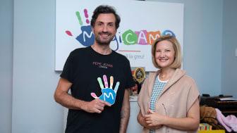 Alex Bratu (JYSK) și Melania Medeleanu (MagicCAMP)