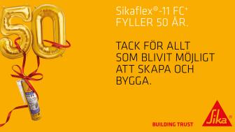 Sikaflex-11FC+ håller efter 50 år av utveckling
