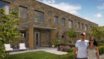 Lyckos säljstartar nya radhus i Stationsstaden, Kävlinge.