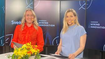Maria Sunér, VD Svemin och Jenny Greberg, Programdirektör Swedish Mining Innovation