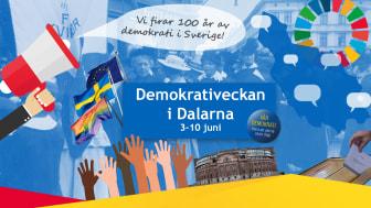 Fira demokratin med oss! Nu lanserar vi Demokrativeckan i Dalarna
