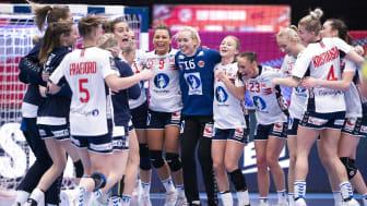 Norge har vunnet alle sine kamper hittil og er klare for hovedrunden i håndball-EM. FOTO: Ritzau Scanpix