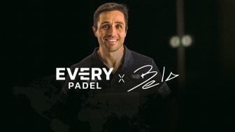 Everysport Media Groups dotterbolag Every Padel lanserar gemensam satsning med den 16-faldige världsettan Belasteguín för att utveckla padeln globalt