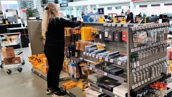 Medarbejderne i Bygma Silkeborg har fået frigjort mere tid til at servicere kunderne