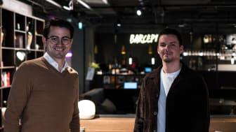Ledare påväg till nya utmaningar. Från vänster Sam Radstake Nissen och Robin Azad.