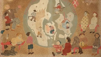 """Dagmar Starcke: """"Danmarkskort"""", 1931. Vurdering: 6.000-8.000 kr."""