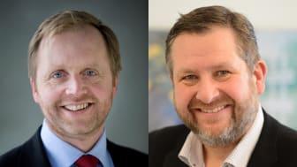 Innlegget er skrevet av Bjørn Kjærand Haugland (t.v.), administrerende direktør i Skift og Bernt Reitan Jenssen, styremedlem i Skift og administrerende direktør i Ruter.