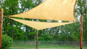 3-kantigt solsegel från Woodwork AB