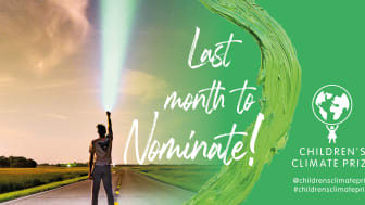 En månad kvar att nominera till Children's Climate Prize 2021
