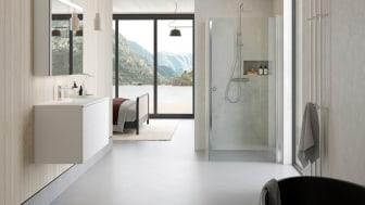 Norjan mahtavissa vuonomaisemissa sijaitsee Espenin ja Anitan moderni mökki, jonka kylpyhuoneen suunnittelussa on keskitytty sekä designiin että toiminnallisuuteen